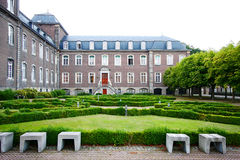 Cloister and gardens Stock Images
