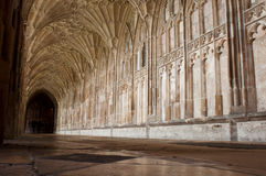 Cloister in Gloucester Cathedral. Stunning view of the Cloister in Gloucester Cathedral, England (United Kingdom) (long exposure Stock Photo
