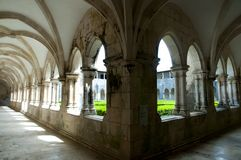 Cloister Hall of Batalha Monastery. Portugal royalty free stock photography