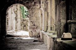 Cloister and hat Royalty Free Stock Photography