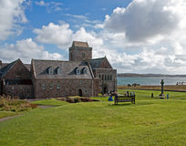 Cloister Iona Abbey stock photo