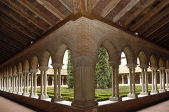 Cloister of Jacobins Church in Toulouse, Royalty Free Stock Photography
