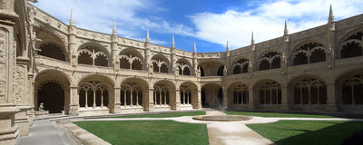 Cloister of Jeronimos monastery Royalty Free Stock Photo