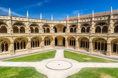 Cloister of the Jeronimos Monastery Royalty Free Stock Photo