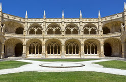 Cloister of the Jeronimos Monastery, in Belem, Lisbon. Stock Photography
