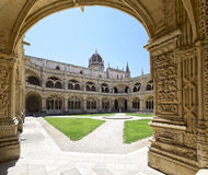 Cloister of the Jeronimos Monastery, in Belem, Lisbon. Royalty Free Stock Image