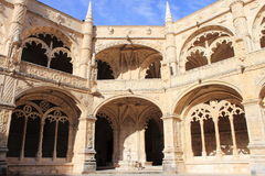 Cloister of the Jeronimos Monastery Royalty Free Stock Photos