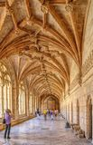 Cloister of Jeronimos monastery in Lisbon royalty free stock image