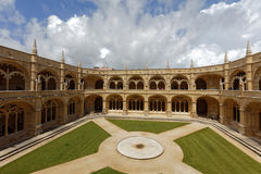 Cloister of Jeronimos Monastery in Lisbon, Portugal Royalty Free Stock Photography