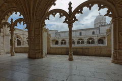 Cloister of Jeronimos Monastery in Lisbon, Portugal Stock Image