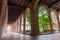 Cloister of a little curch Stock Photography