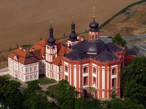 Cloister Marianska Tynice-Czech Republic. Air photography Royalty Free Stock Photography