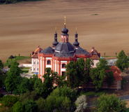 Cloister Marianska Tynice-Czech Republic. Air photography Stock Photo