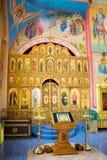 Cloister of Mercy. Holy Trinity Abode of Mercy, Saraktash settlement. Kind inside Royalty Free Stock Photos