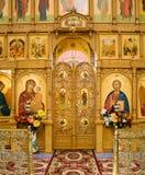 Cloister of Mercy. Holy Trinity Abode of Mercy, Saraktash settlement. Kind inside Royalty Free Stock Image