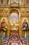 Cloister of Mercy. Holy Trinity Abode of Mercy, Saraktash settlement. Kind inside Stock Images