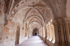 Cloister of a monastery Royalty Free Stock Image