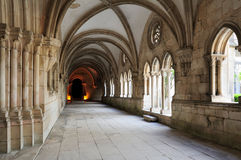 Cloister of Monastery de Santa Maria, Alcobaca, Portugal royalty free stock photo