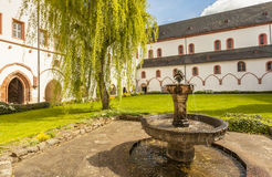 Cloister of the monastery Eberbach Eltville am Rhein Rheingau He Stock Images