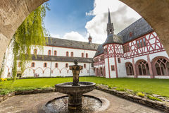 Cloister of the monastery Eberbach Eltville am Rhein Rheingau He Royalty Free Stock Images