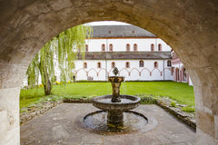 Cloister of the monastery Eberbach Eltville am Rhein Rheingau He Stock Photo