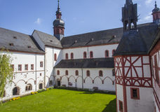 Cloister of the monastery Eberbach Eltville am Rhein Rheingau He Stock Photos
