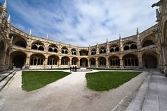 Cloister of a monastery Stock Photography