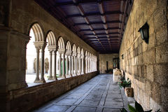 Cloister of monastery of S. Bento Royalty Free Stock Images