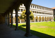 Cloister of Monastery of  San Esteban Royalty Free Stock Images