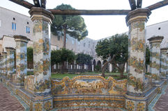Cloister, monastery Santa Chiara, Naples, Campania Stock Images