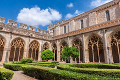 Cloister of Monastery of Santa Maria de Santes Creus Royalty Free Stock Photo