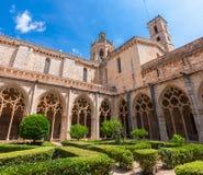 Cloister of Monastery of Santa Maria de Santes Creus Royalty Free Stock Images