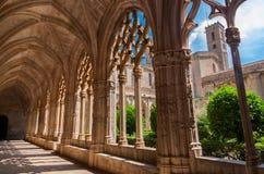 Cloister of Monastery of Santa Maria de Santes Creus Royalty Free Stock Photography