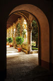 The cloister of the Monastery of Yuste, Caceres province, Spain Royalty Free Stock Image