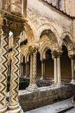 Cloister of the Monreale Abbey, Palermo. The cloister of the abbey of Monreale at Palermo, Sicily, Italy Royalty Free Stock Photos