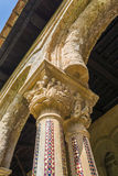 Cloister of the Monreale Abbey, Palermo Royalty Free Stock Photography