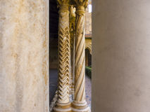 Cloister of the Monreale Abbey, Palermo Royalty Free Stock Images