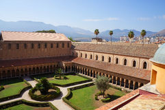 The cloister of the Monreale Cathedral in Sicily Royalty Free Stock Photos