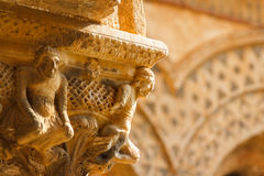 Cloister of Monreale cathedral, Sicily. Italy Stock Images