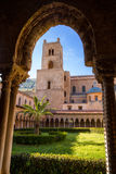 Cloister of Monreale Royalty Free Stock Images