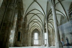 The cloister. Mont Saint-Michel, France Royalty Free Stock Image