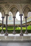 Cloister of Mont St. Michel Royalty Free Stock Image