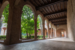 Cloister of one of the little curch Stock Images