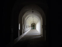 Cloister ot the  monastery Stock Image