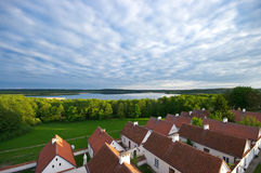 Cloister over the Wigry lake, Poland Royalty Free Stock Photography