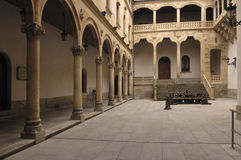 Cloister at the Palace of La Salina, diputacion, Salamanca,. Spain stock images