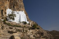 Monastery Panagia Hozoviotissa Royalty Free Stock Photography