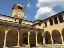 Cloister of the parish church of San Floriano in valpolicella, Italy royalty free stock image