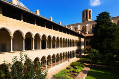 Cloister of Pedralbes Monastery Stock Image
