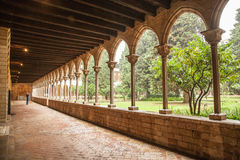 Cloister of Pedralbes Monastery at Barcelona Royalty Free Stock Photo